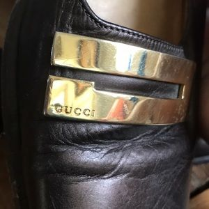 Gucci Shoes - GUCCI Vintage Brown Mid Heel Loafers Size 35  5